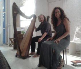 Dinorah junto a Joan Manuel Chouciño