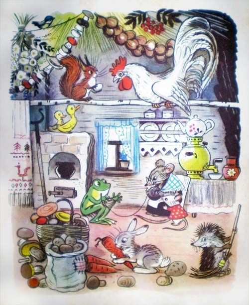 De ¨Cuentos y estampas¨, libro de Vladimir Suteiev.