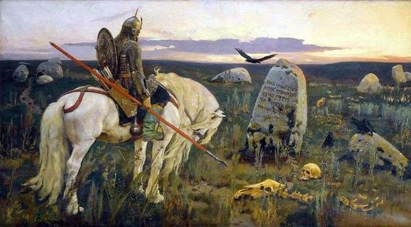 """""""Caballero en la encrucijada """" Victor Vasnetsov"""